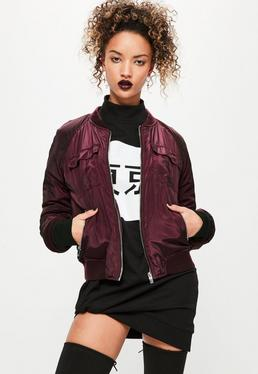 Utility Bomber Jacket Purple