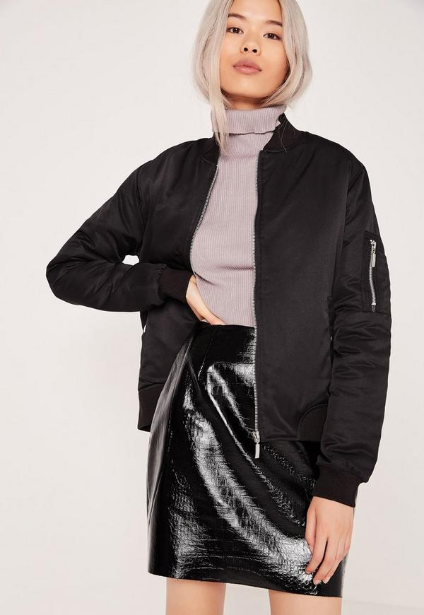 Soft Touch Bomber Jacket Black