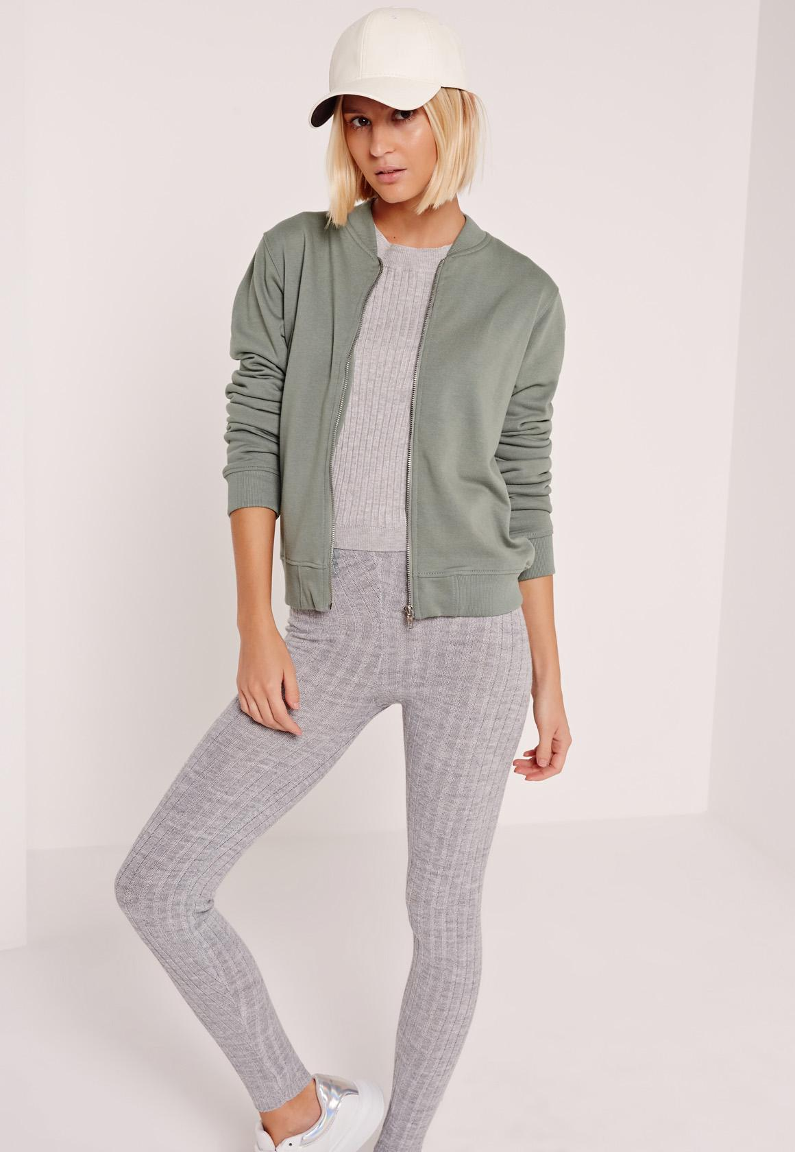Basic Bomber Jacket Green