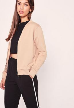 Basic Bomber Jacket Camel