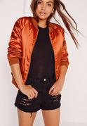 Bomber Premium en satin orange
