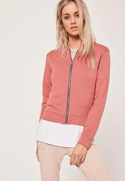 Basic Bomber Jacket Pink