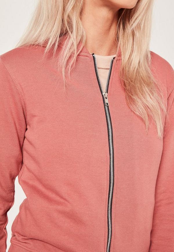 Basic Bomber Jacket Pink