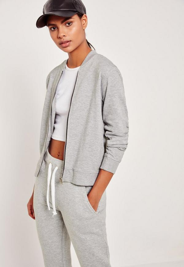 Basic Bomber Jacket Grey