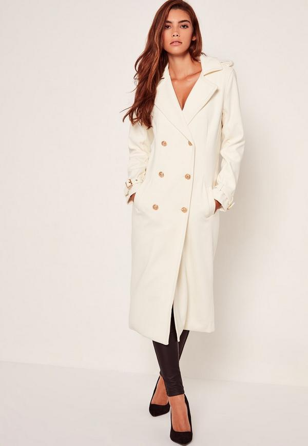 Lightweight Military Trench Coat White | Missguided