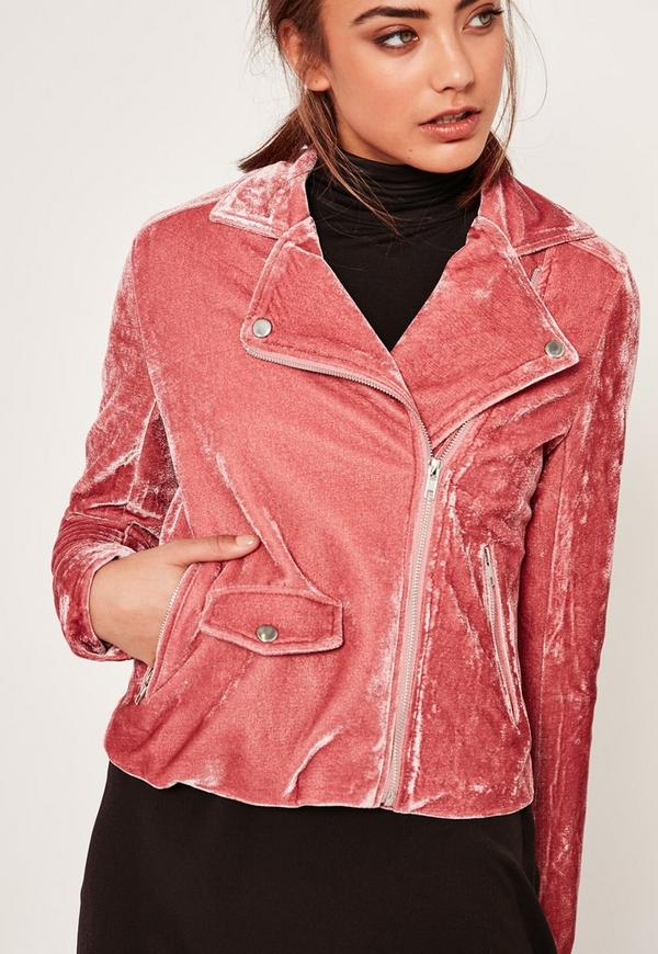Chaqueta de terciopelo rosa