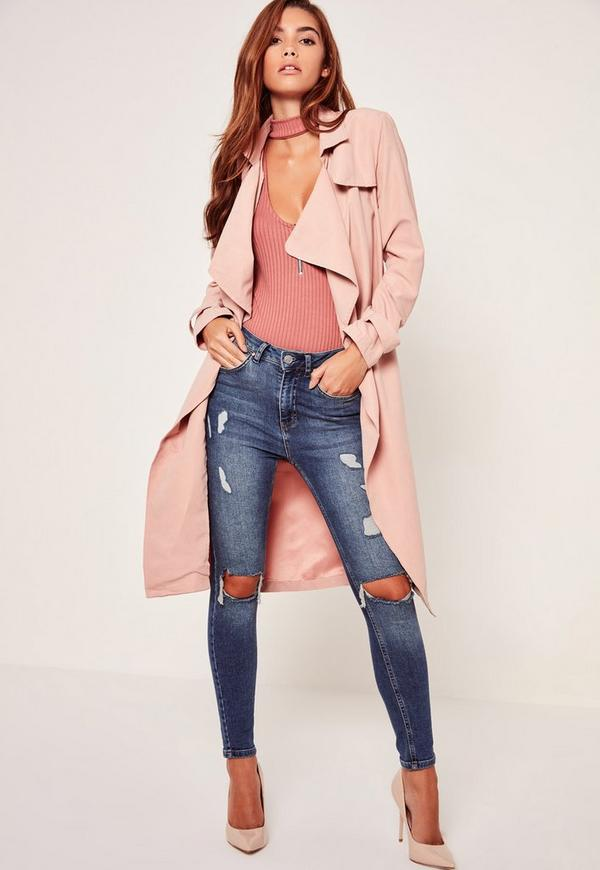 Waterfall Duster Coat Nude