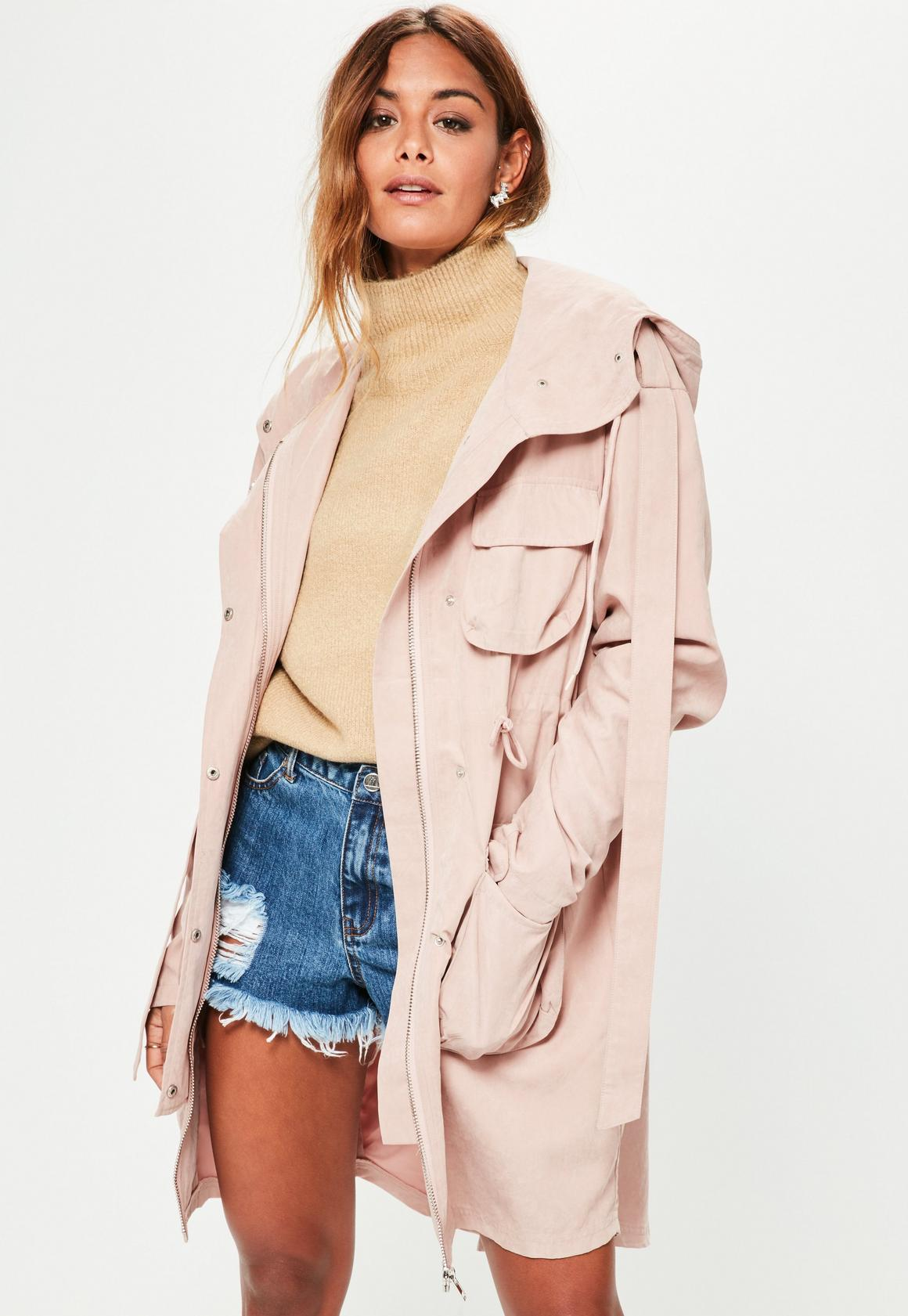 Pink Oversized Parka | Missguided