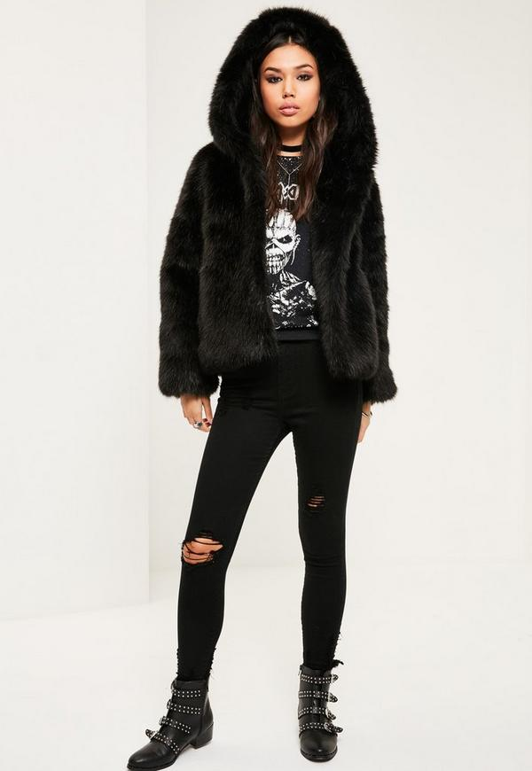 Aofur Womens Vintage Punk Winter Coat Hooded Parka Jacket Faux Fur Black Long Trench Overcoat Outwear. by Aofur. $ - $ $ 52 $ 55 72 Prime. FREE Shipping on eligible orders. Some sizes/colors are Prime eligible. out of 5 stars 8.