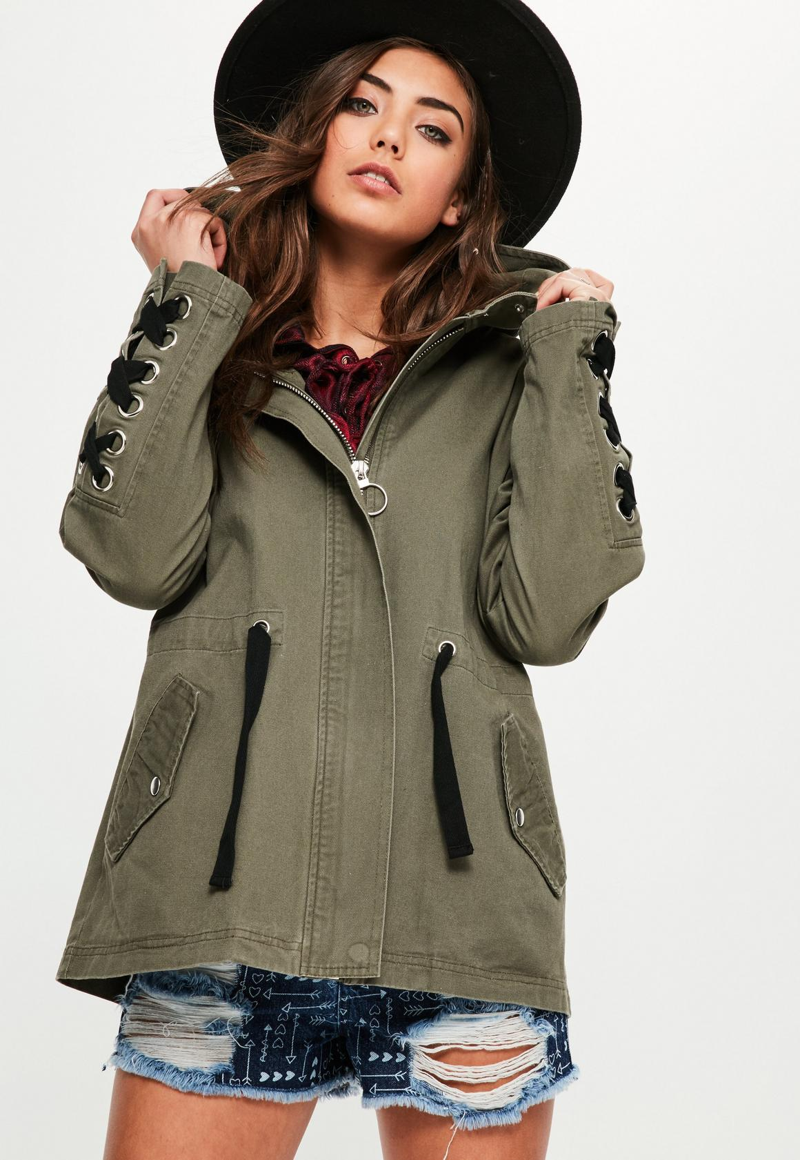 Womens Parka Coats | Fur Lined Khaki Parka - Missguided
