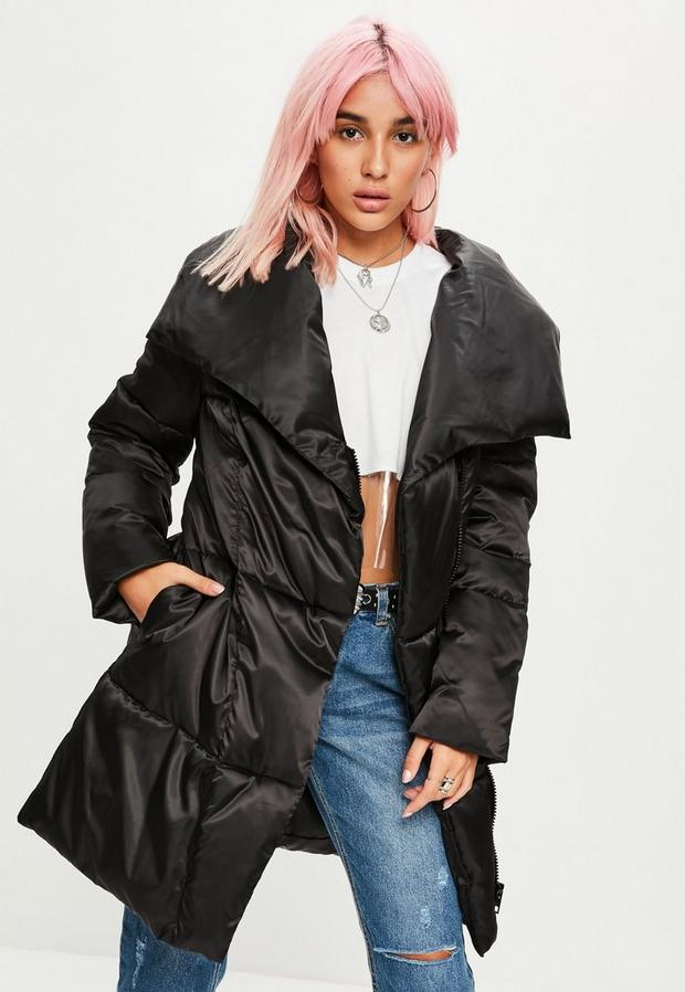 Missguided - Waterfall Puffer Jacket - 1