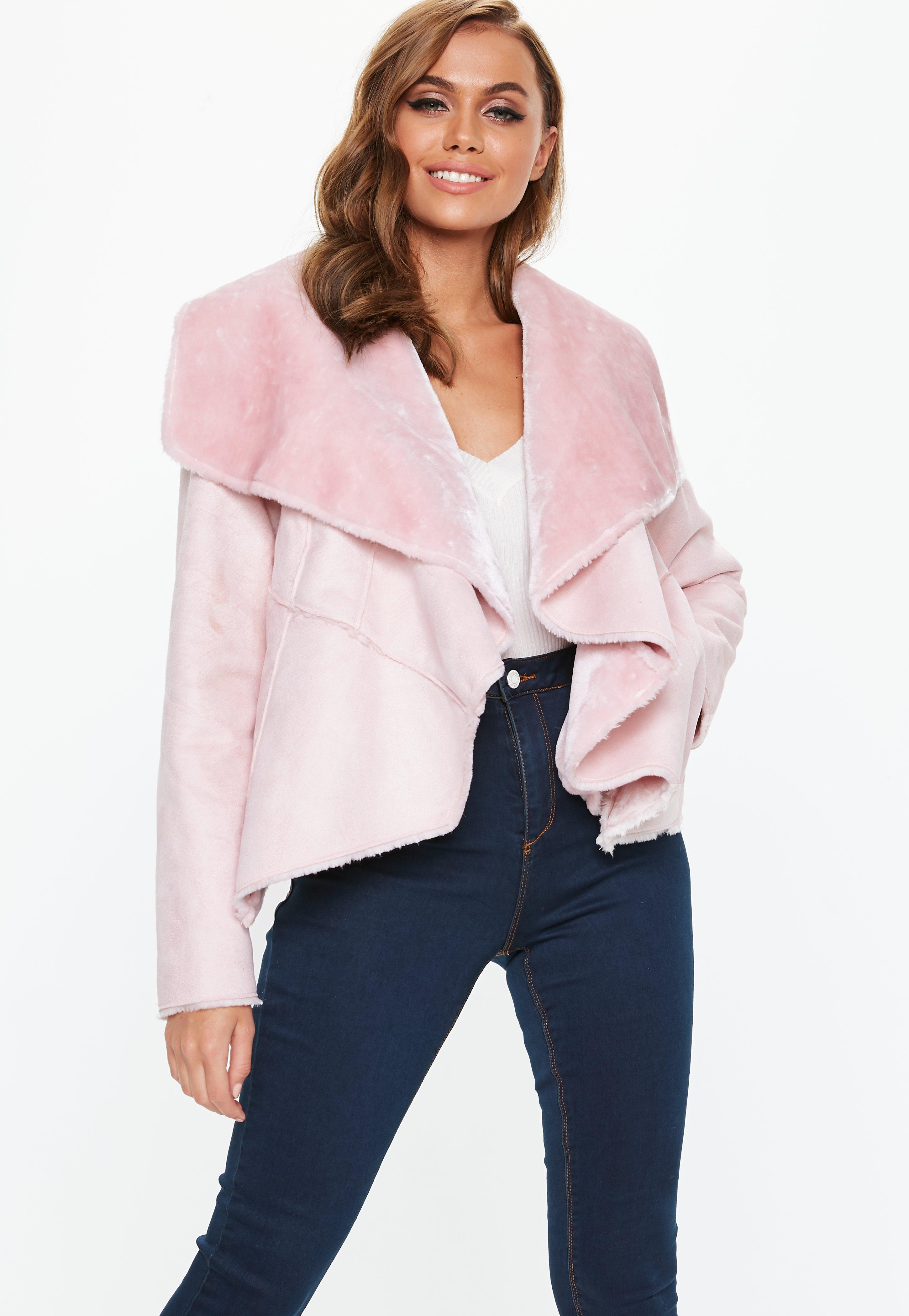 Vente Avec Mastercard Missguided Rose drapé en faux mouton Sast Pas Cher Réduction 2018 ztCTfS