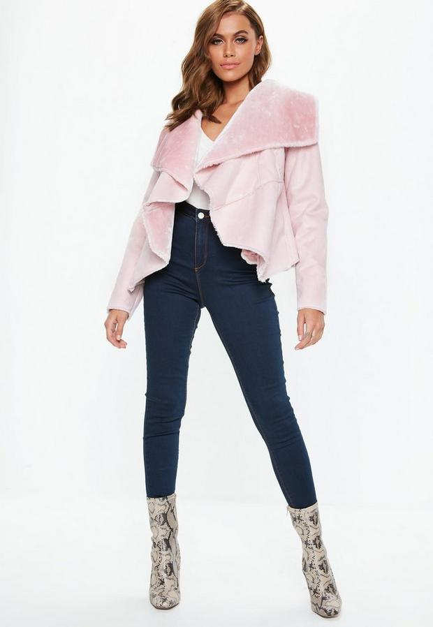 Missguided - Waterfall Shearling Jacket - 2