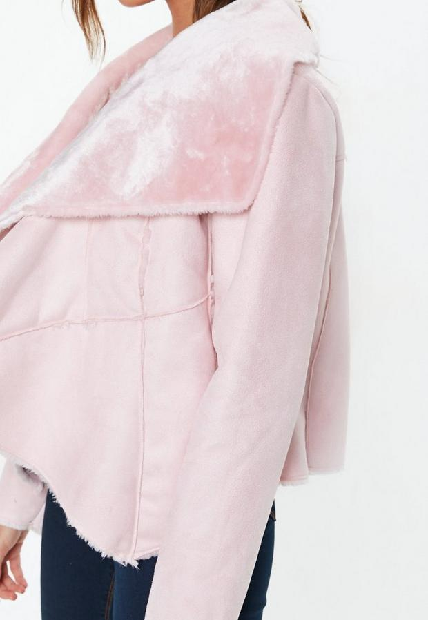 Missguided - Waterfall Shearling Jacket - 3