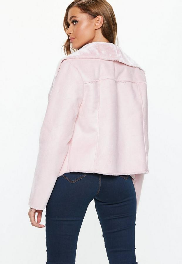 Missguided - Waterfall Shearling Jacket - 4
