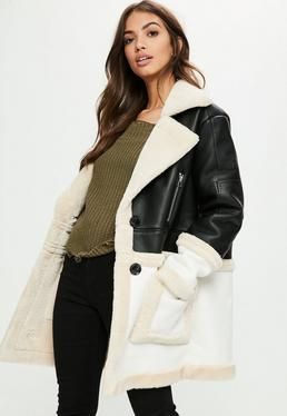 Black Premium Faux Shearling Jacket