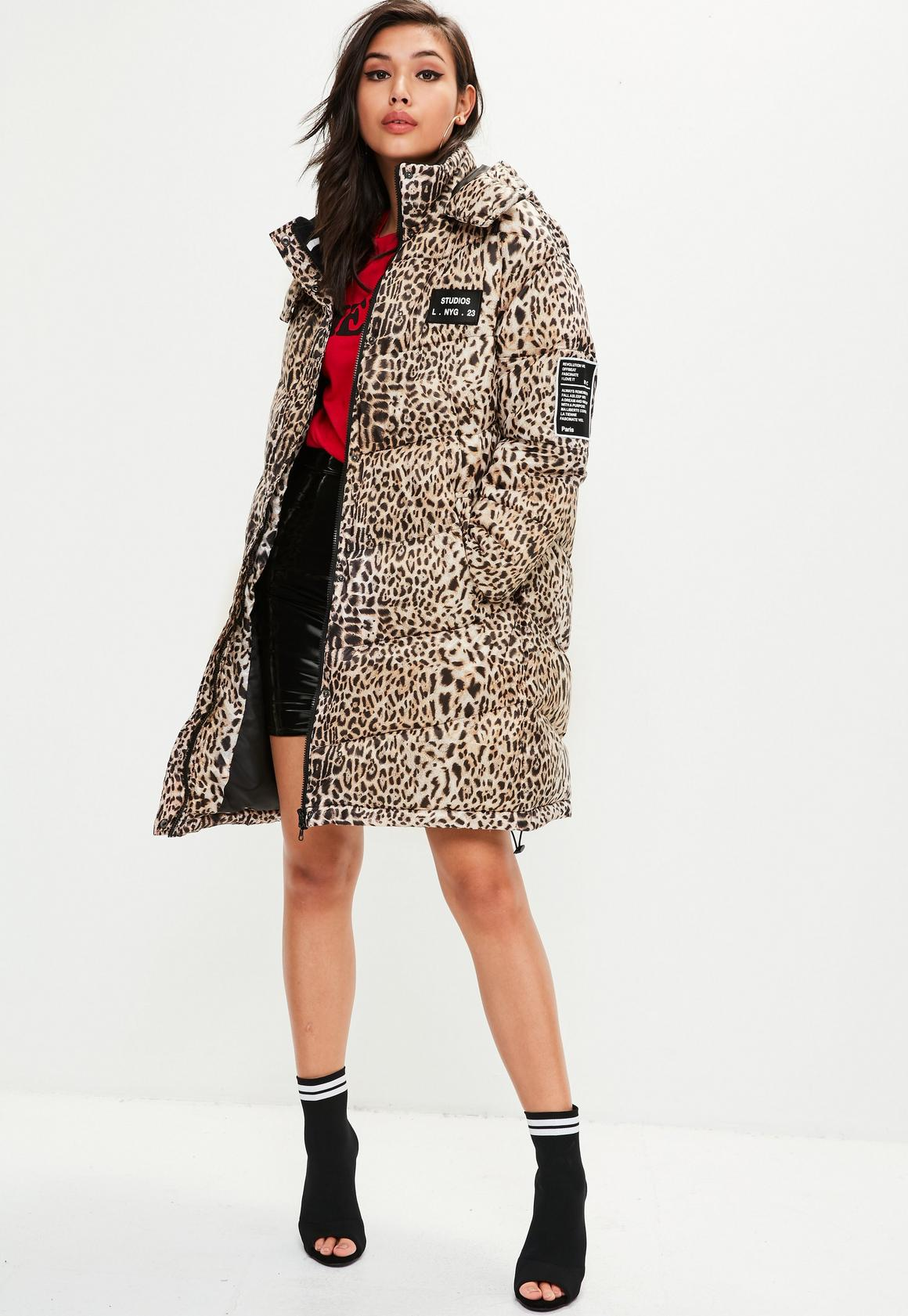 e9c7f531bf Missguided Animal Print Puffer Jacket, Animal Print at £26 | love ...