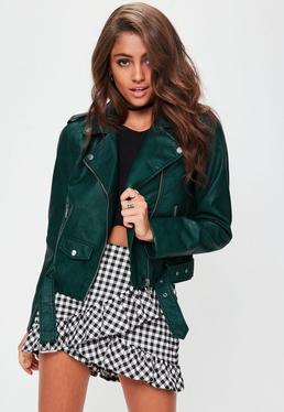 Green Ultimate Biker Jacket