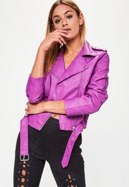Purple Ultimate Biker Jacket