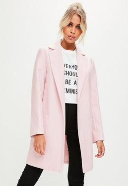 Pink Slim Fit Coat