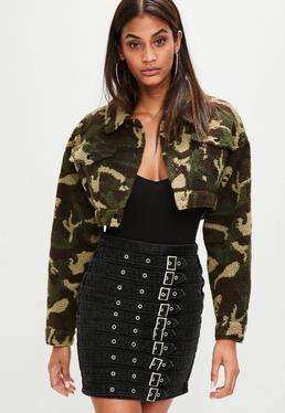 Khaki Camouflage Trucker Jacket