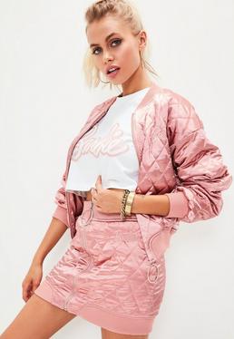Barbie x Missguided Rosa Bomber-Wendejacke