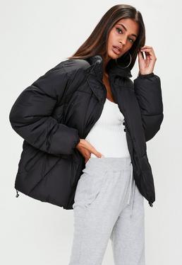 Black Ultimate Oversized Padded Jacket