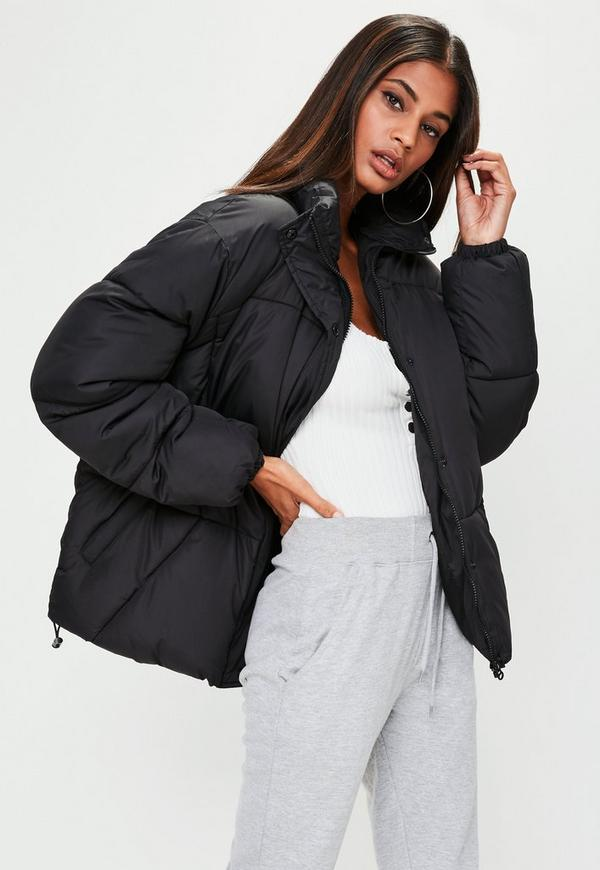 Black Ultimate Oversized Puffer Jacket Missguided