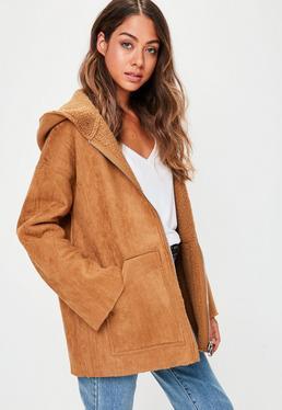 Brown Faux Shearling Jacket