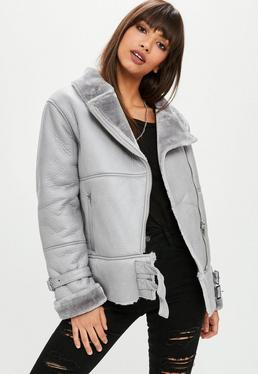 Grey Ultimate Aviator Jacket