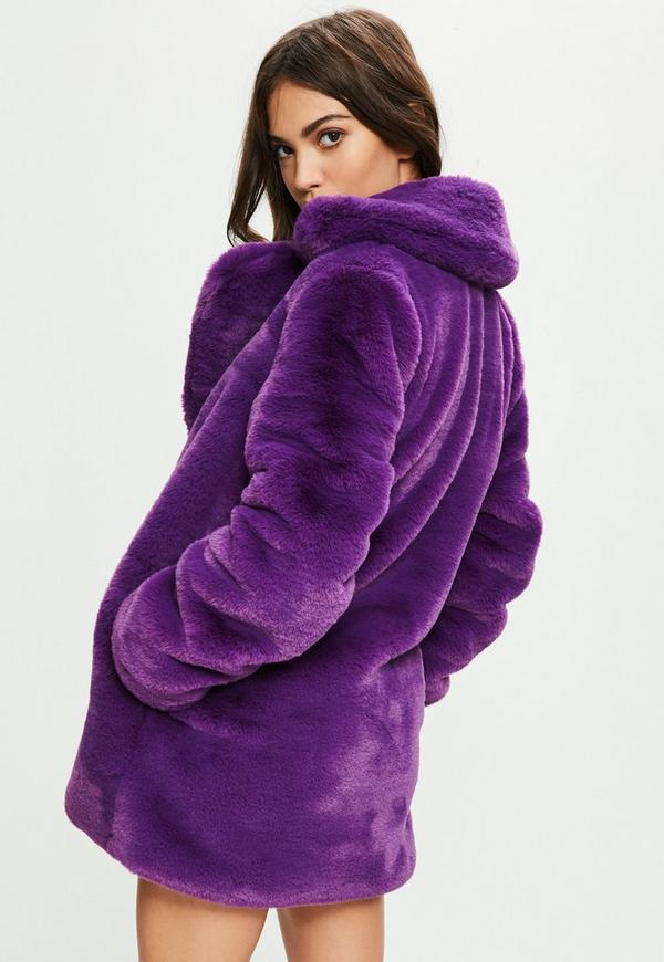 Purple faux fur 2