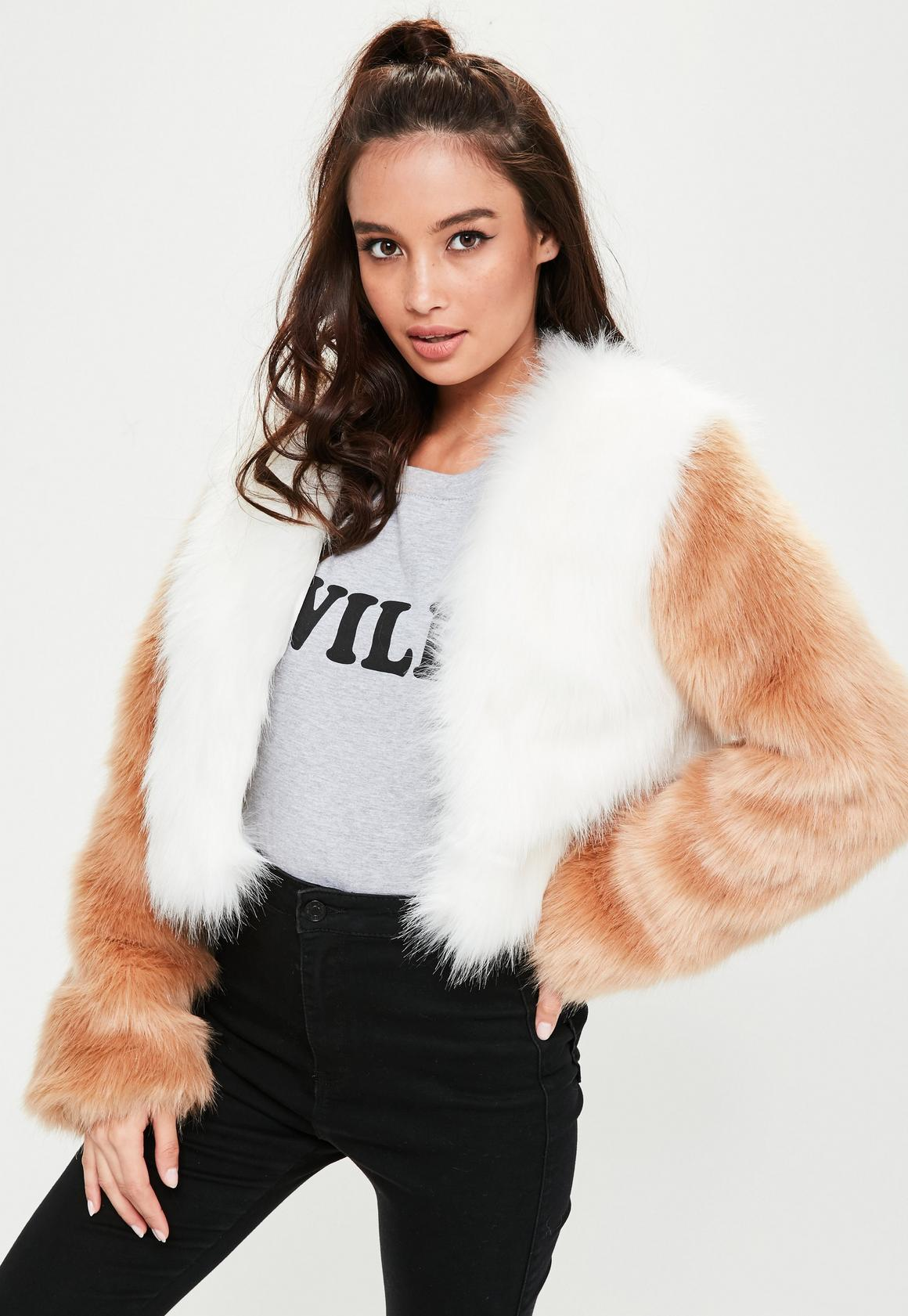 White Faux Fur Coat | Missguided