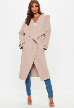 Nude Oversized Waterfall Duster Jacket