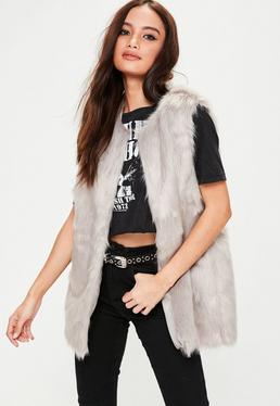 Grey Ultimate Faux Fur Gilet