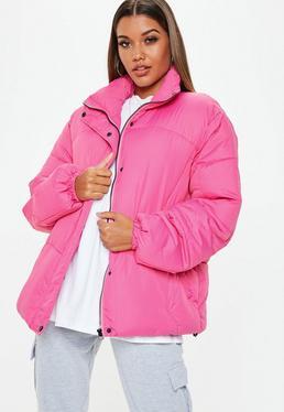 Różowa watowana kurtka ultimate