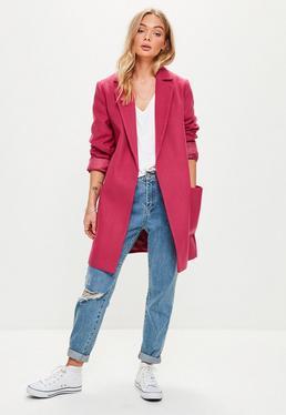 Pink Slim Fit Coat