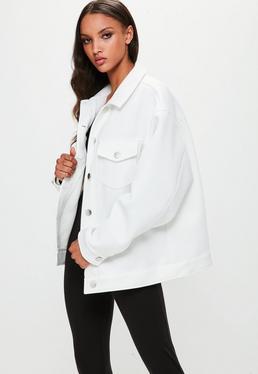 Londunn + Missguided Biała kurtka ze skuby