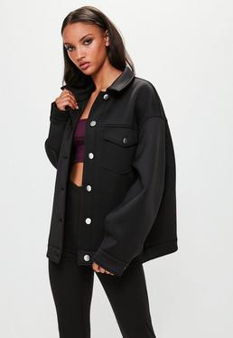 Londunn + Missguided Black Scuba Jacket