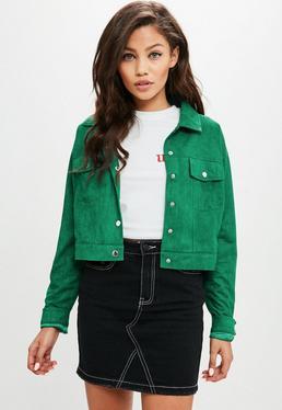Green Faux Suede Ultimate Trucker Jacket