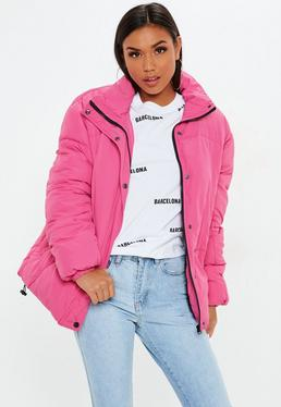 Pink ultimate oversized puffer jacket