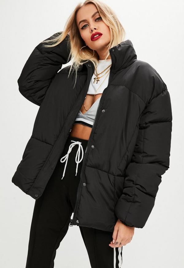 Black Ultimate Oversized Padded Jacket Missguided