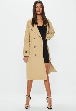 Camel Oversized Classic Trench Coat