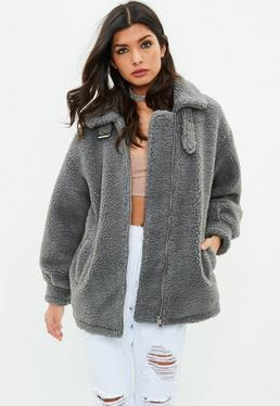 Grey Borg Aviator Jacket