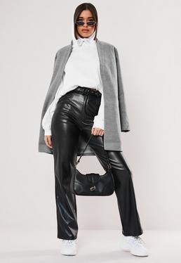 Veste longue lainage femme