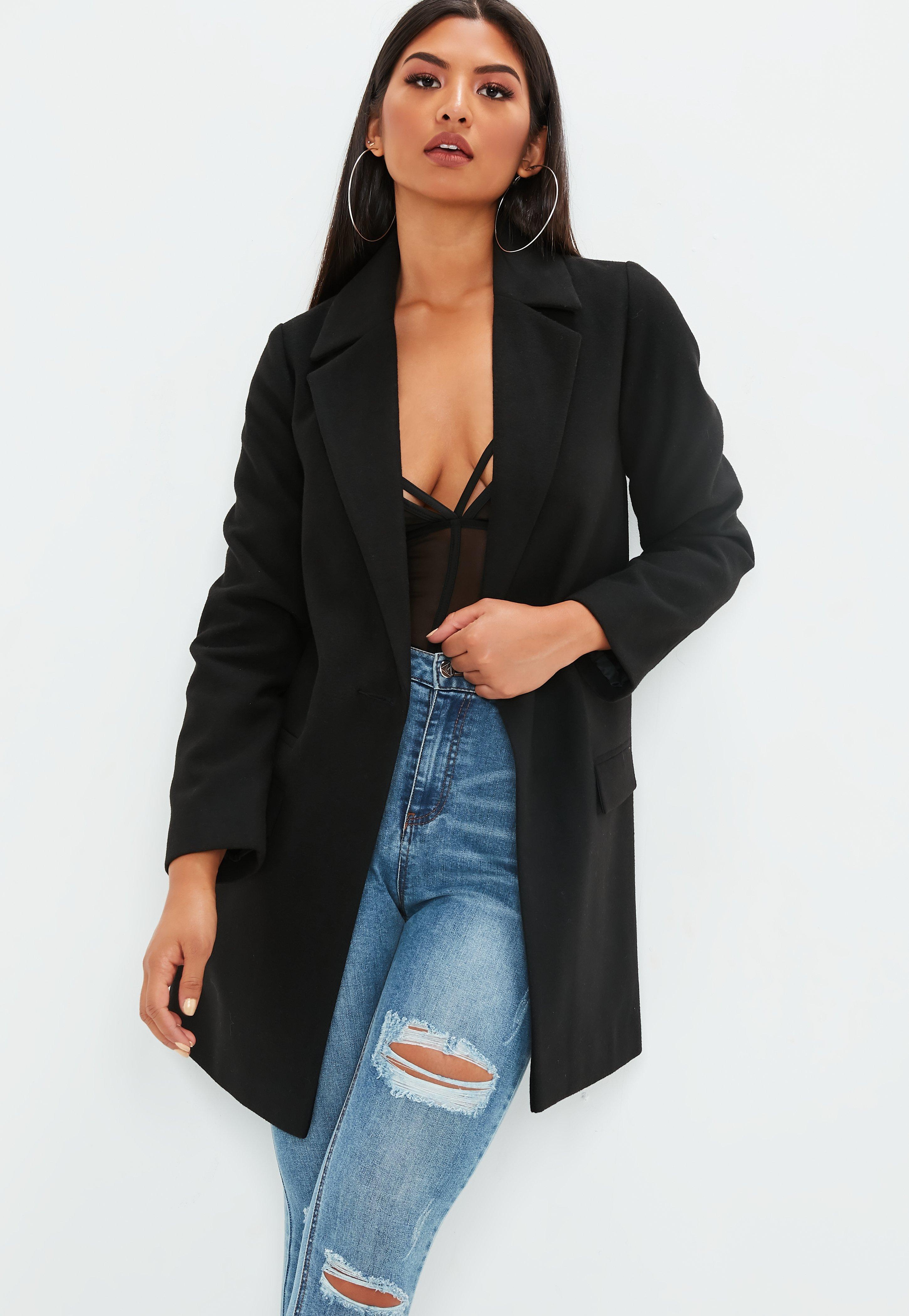 Schwarzer mantel fur kleine frauen