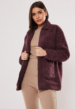 Teddy Jas Wit.Teddy Coats Borg Jackets Fluffy Coats Missguided