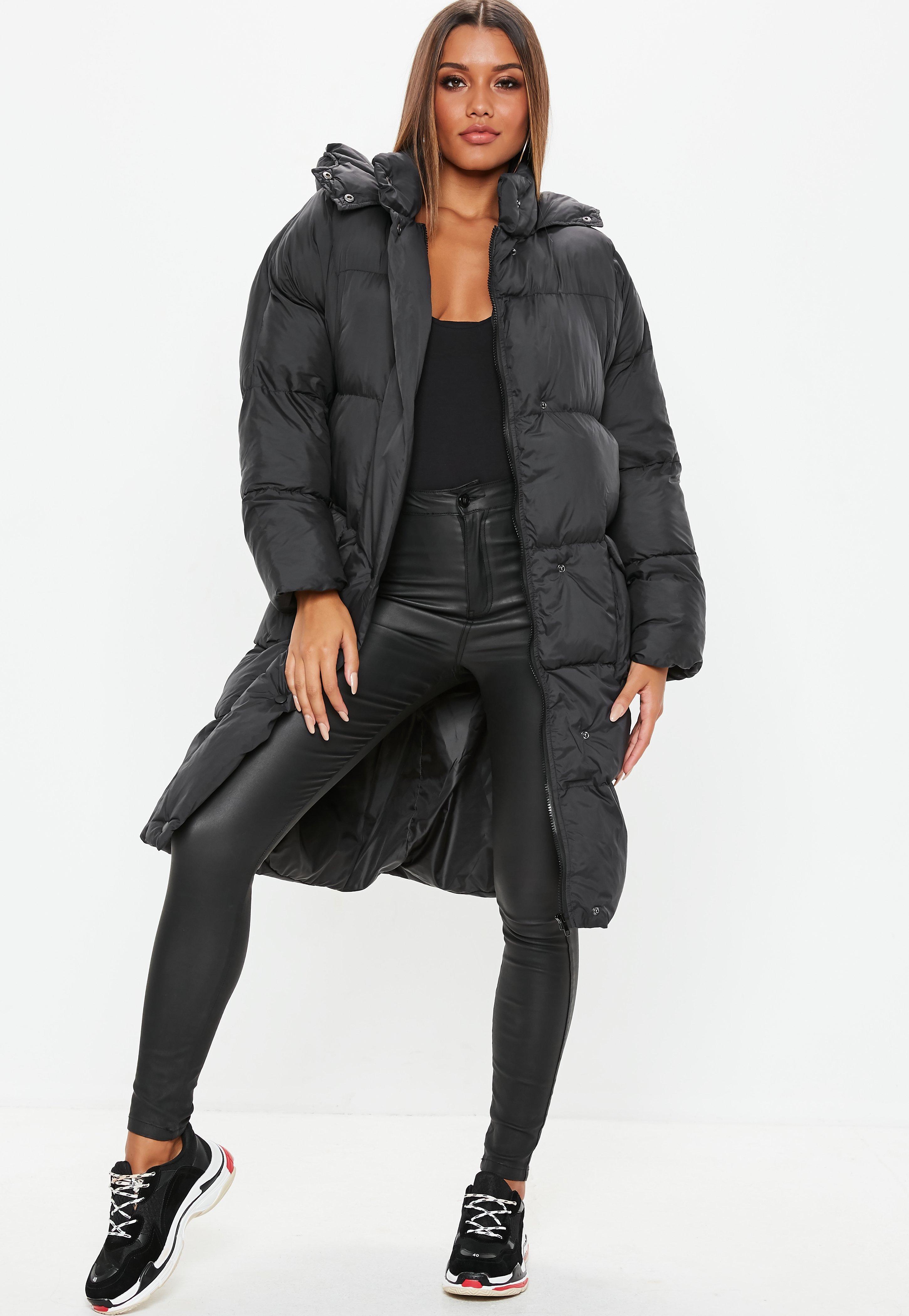 457708d1b92e Black Longline Puffer Jacket