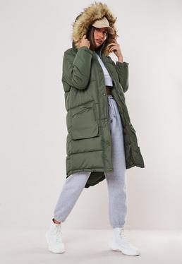 f52fd16084a Khaki Coats | Khaki Green Jackets - Missguided