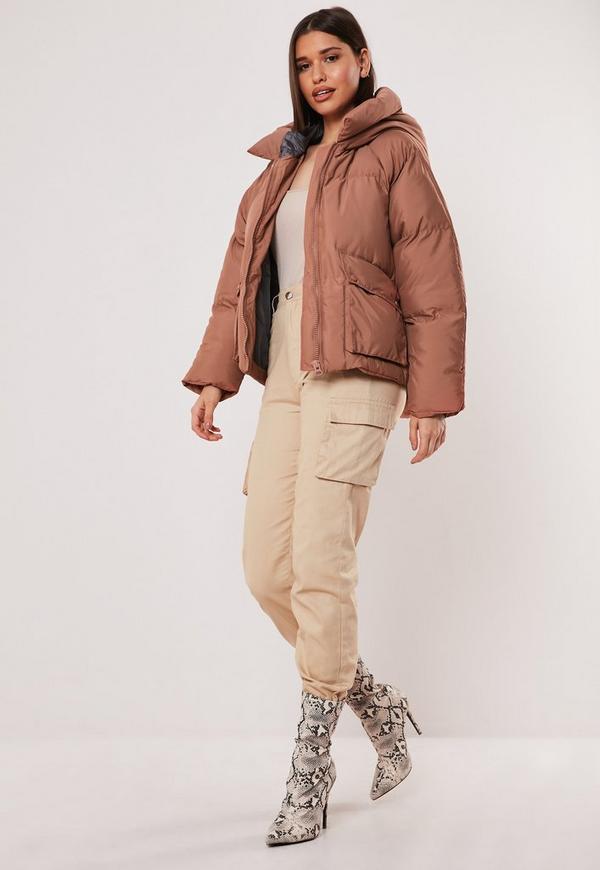 c3530ea27346 Mocha Hooded Ultimate Puffer Jacket. Previous Next