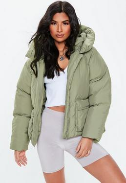 89b684265d48 ... Green Oversized Hooded Ultimate Puffer Jacket